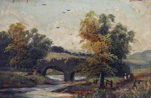 Country Scene with a River and a Bridge