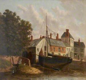 Town Mill with a Ship