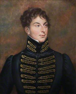 Portrait of a Young Officer Wearing a Uniform