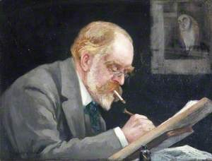 Francis Carruthers Gould (1844–1925), at His Desk