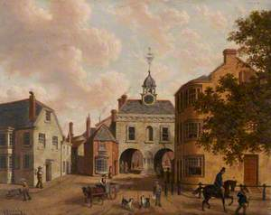 Old Northgate and the Bluecoat School, Barnstaple, Devon