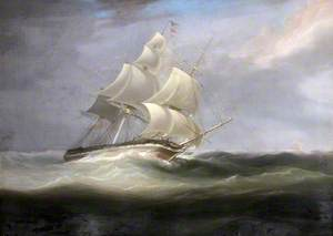 A Three-Masted Vessel in a Swell