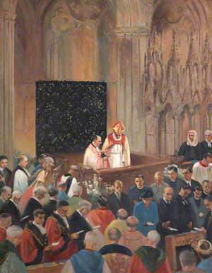 The Enthronement of Bishop Robert Mortimer, Bishop of Exeter (1948–1973)