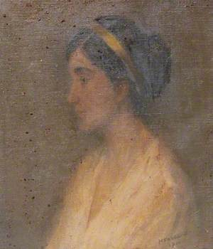 Portrait of a Lady Wearing a Headband