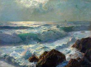 Sea and Rocks, Moonlight