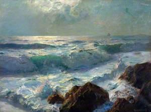 Sea and Rocks, Moonlight
