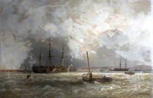 Ships in the Exe Estuary, Devon