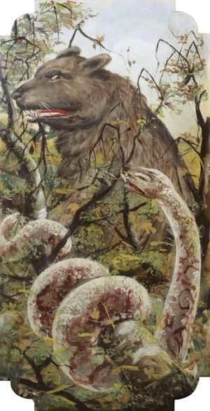 R. Edwards' 'Galloping Horses': Jungle Animals, Bear and a Boa