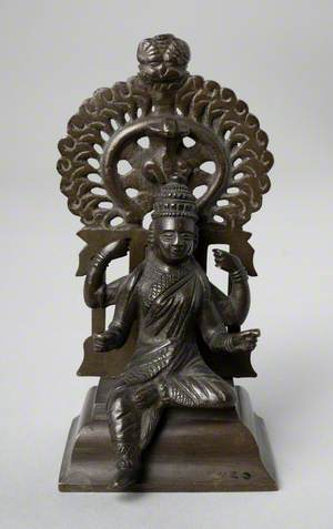Figure of Sarasvati Riding a Hamsa Goose