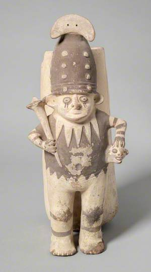 Chancay Figure with Attached Vessel