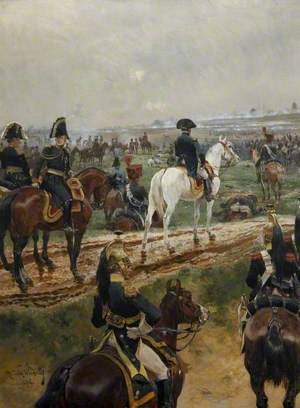 Napolean and His Marshals Watching a Battle