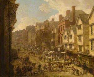 The High Street, Exeter, Devon, in 1797