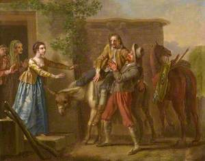 Don Quixote Brought Home by the Peasant after the Tilt with the Toledo Merchant
