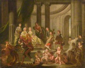 The Muses Paying Homage to Frederick, Prince of Wales and Princess Augusta (The Artists Presenting a Plan for an Academy to Frederick, Prince of Wales and Princess Augusta)