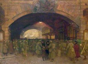 Victoria Station, London, Troops Leaving for the Front