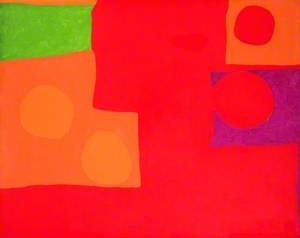 Two Vermilions, Green and Purple in Red: March 1965