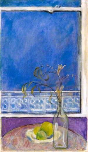 Blue Window, Fruit and Leaves