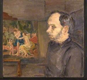 Leon Kossoff (b.1926), with 'Cephalus and Aurora'