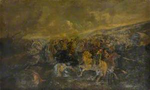 Landscape with a Battle between Cavaliers and Roundheads
