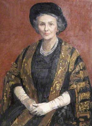 Mary Cavendish (1895–1988), Duchess of Devonshire in Chancellor's Robes