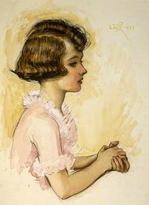 Profile of Child in a Pink Frock