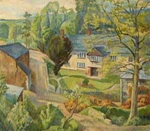 PITTENWEEM/' FRAMED SIGNED PRINT FRASER MILNE /'HOUSES BY THE SHORE