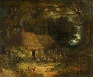 Woodland Scene with a Cottage