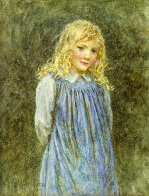Child (also known as 'Young Girl in Blue' or 'Girl')
