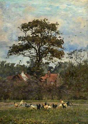 Landscape with Poultry