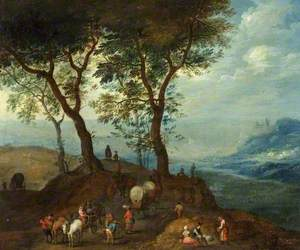 Landscape with Peasant Figures