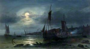 Moonrise on the Medway, Kent