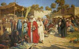 In a Damascus Market, Syria