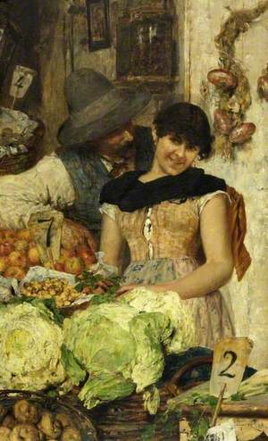 A Venetian Vegetable Stall, Courtship