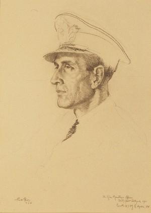 X Gun Mountings Officer, Devonport Dockyard, 1941, Commander (E) H. J. B. Moore, RN