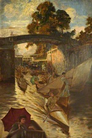 Study for 'Boulter's Lock, Sunday Afternoon'