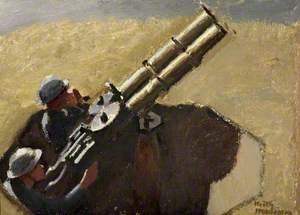 Study of Royal Air Force Machine Gunmen