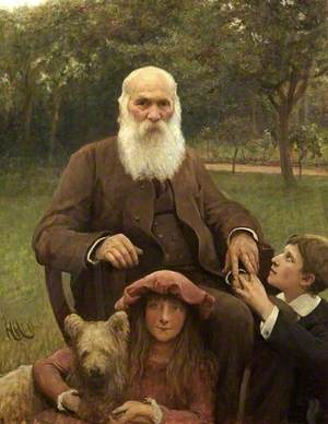 Lorenz Herkomer (1825–1888), Siegfried (1874–1939), and Elsa (1877–1938)