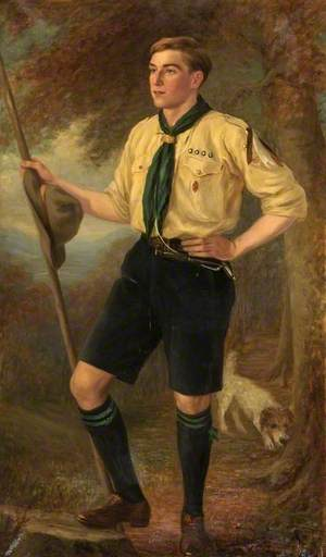 Mr Tilley as a Boy Scout