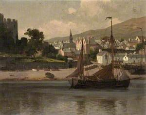 Castle, Haystack and Barge