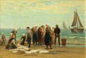 Fisherwomen at Scheveningen, Holland