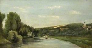 Yacht sur la rivière