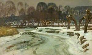 The Frozen River, Flatford, Suffolk