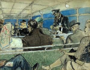 Bus Interior Scene