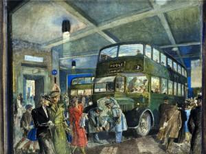 The Darkened Bus Station