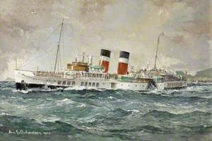 The 'Waverley' Paddle Steamer off Garroch Head