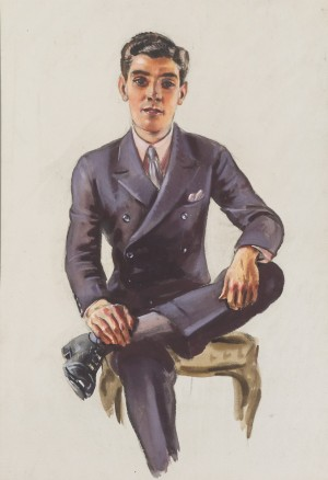 Portrait of a Young Man (Young Man Sitting with Left Foot across Right Knee)