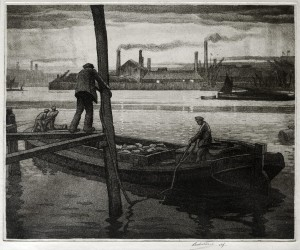 Mooring the Barge (Sailing Barges on the Medway)
