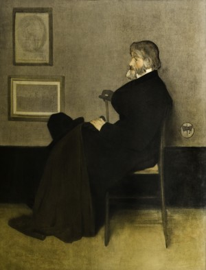 Arrangement in Grey and Black, No. 2: Portrait of Thomas Carlyle
