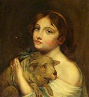A Girl with a Lamb