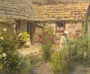 Summer Scene in a Garden with Figures